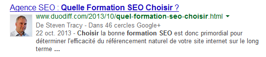 Formation SEO sur Google autorship