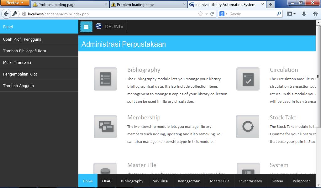 Aplikasi Perpustakaan Gratis Slims Deuniv