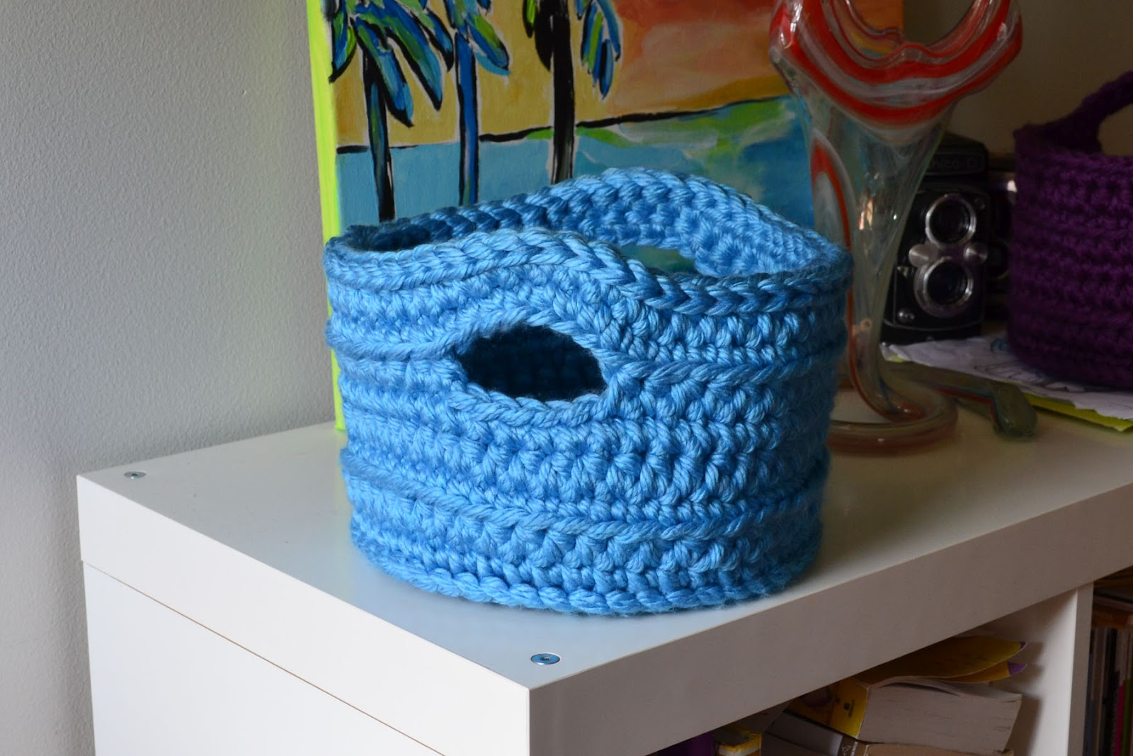 Crochet Stitches Basket : Another Version of the Chunky Basket
