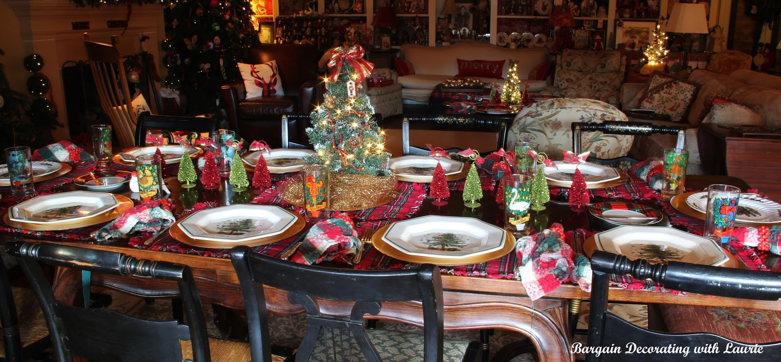 Bargain Decorating With Laurie Christmas Tablescapes
