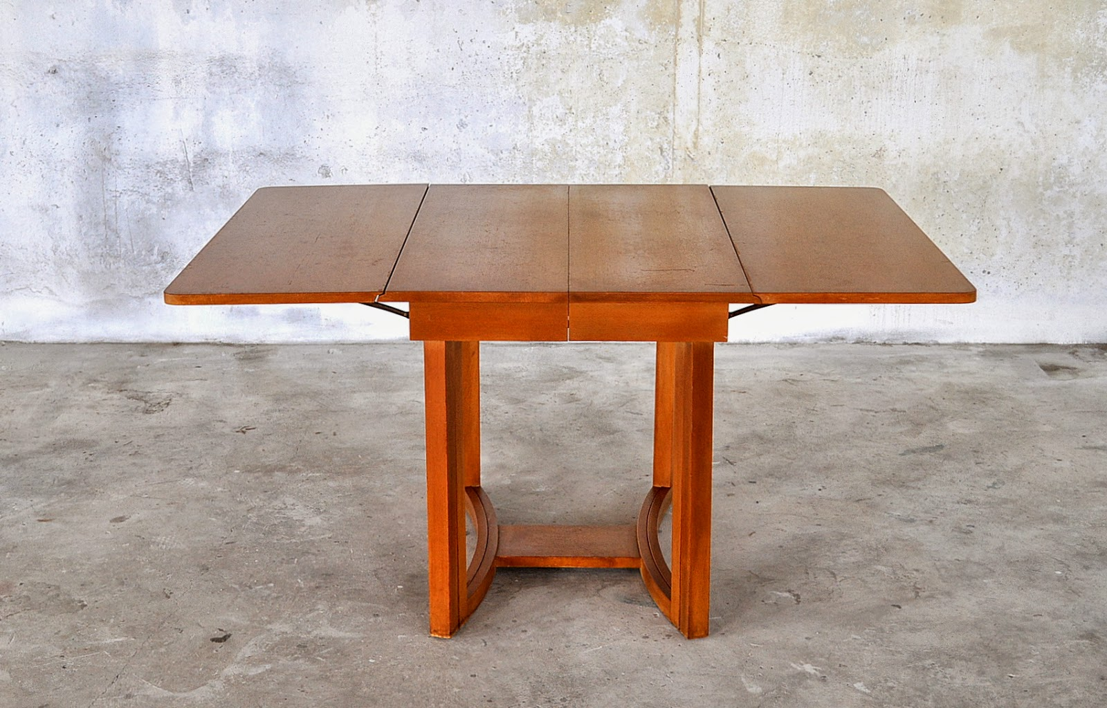 Select modern rare mid century modern extension drop leaf for Drop leaf extension table