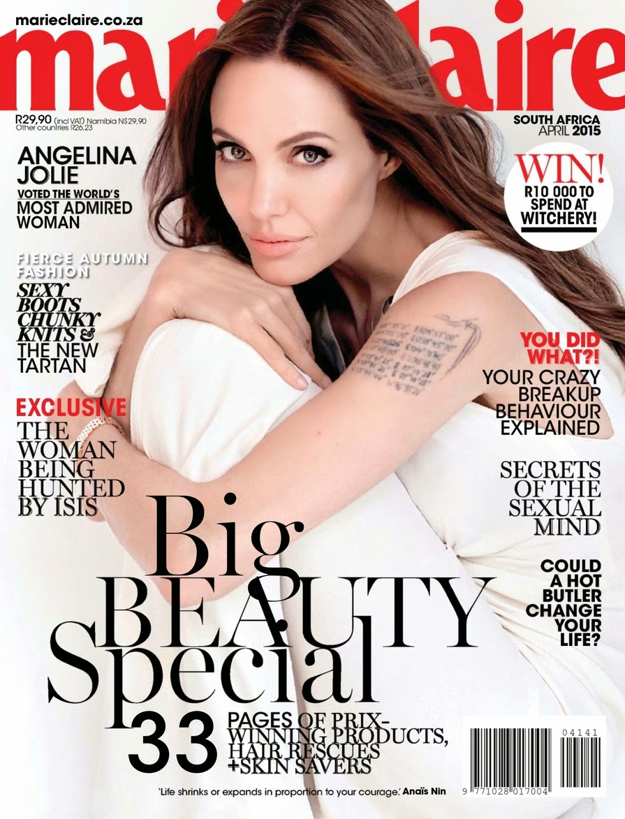 Actress, Filmmaker, Humanitarian @ Angelina Jolie - Marie Claire South Africa, April 2015