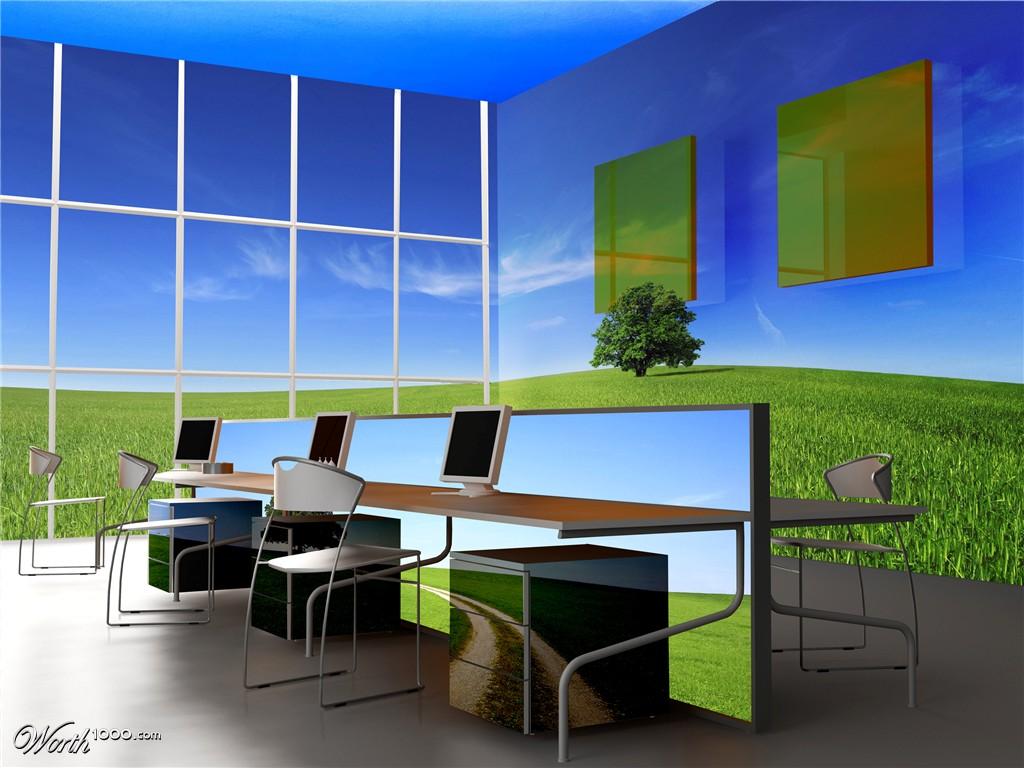 Hogares frescos espectaculares espacios de oficinas con for Espacios de oficina