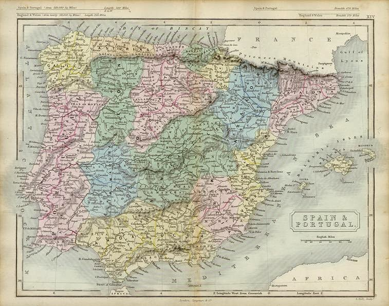 Spain and Portugal Sidney Hall 1853