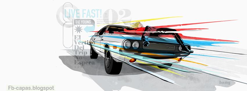 Capa para Facebook Carros