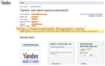 Yandex Üye Olma Resimli Anlatım