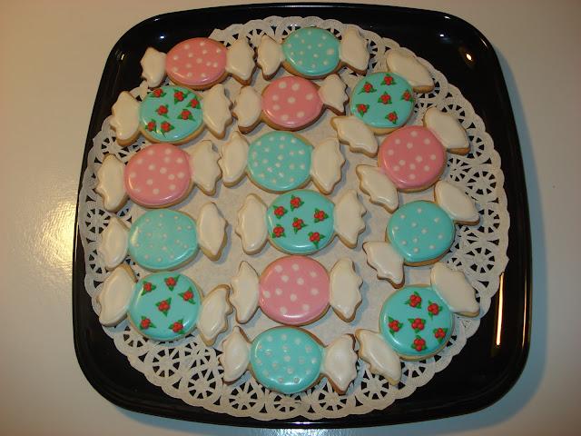 Galletas en forma de caramelo