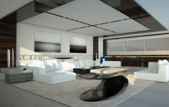 Interiors Design In The Yacht Ultra Luxury