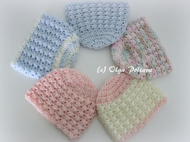 Lacy Crochet: Preemie Baby Crochet Hats