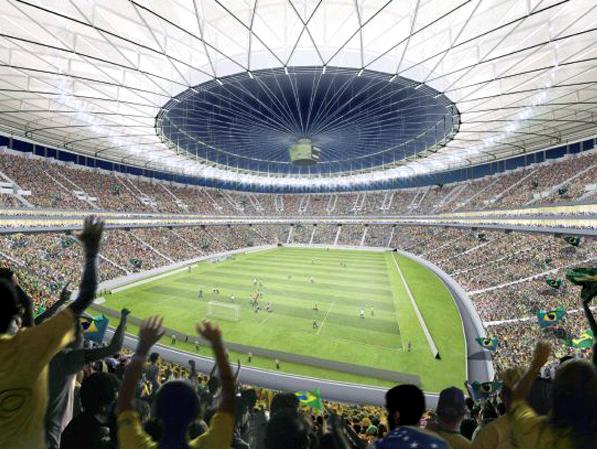 Foto da arquibancada do Estádio Nacional de Brasília