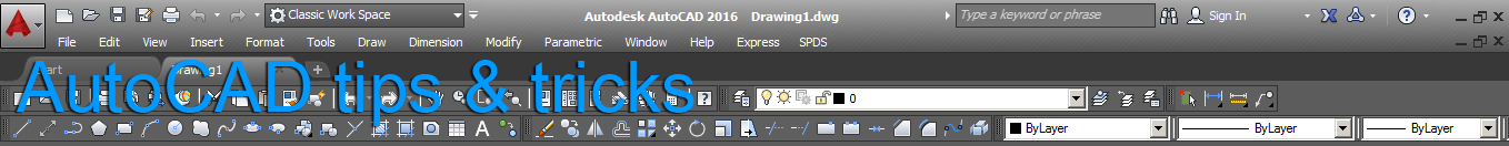 AutoCAD  tips & tricks