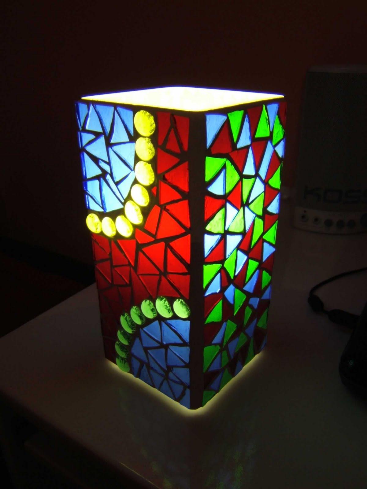 Как сделать светильник мозаика