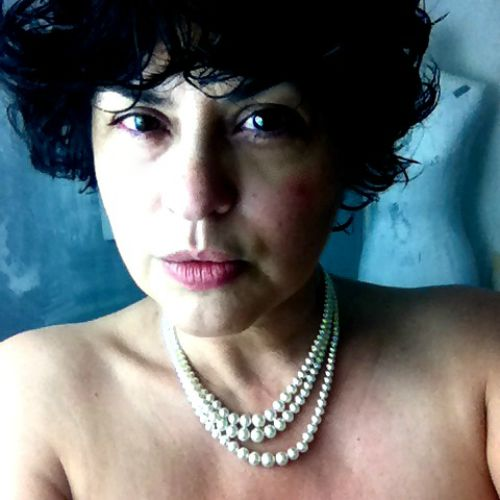 1000 Words: A Self Portrait with Pearl Necklace at Age 50