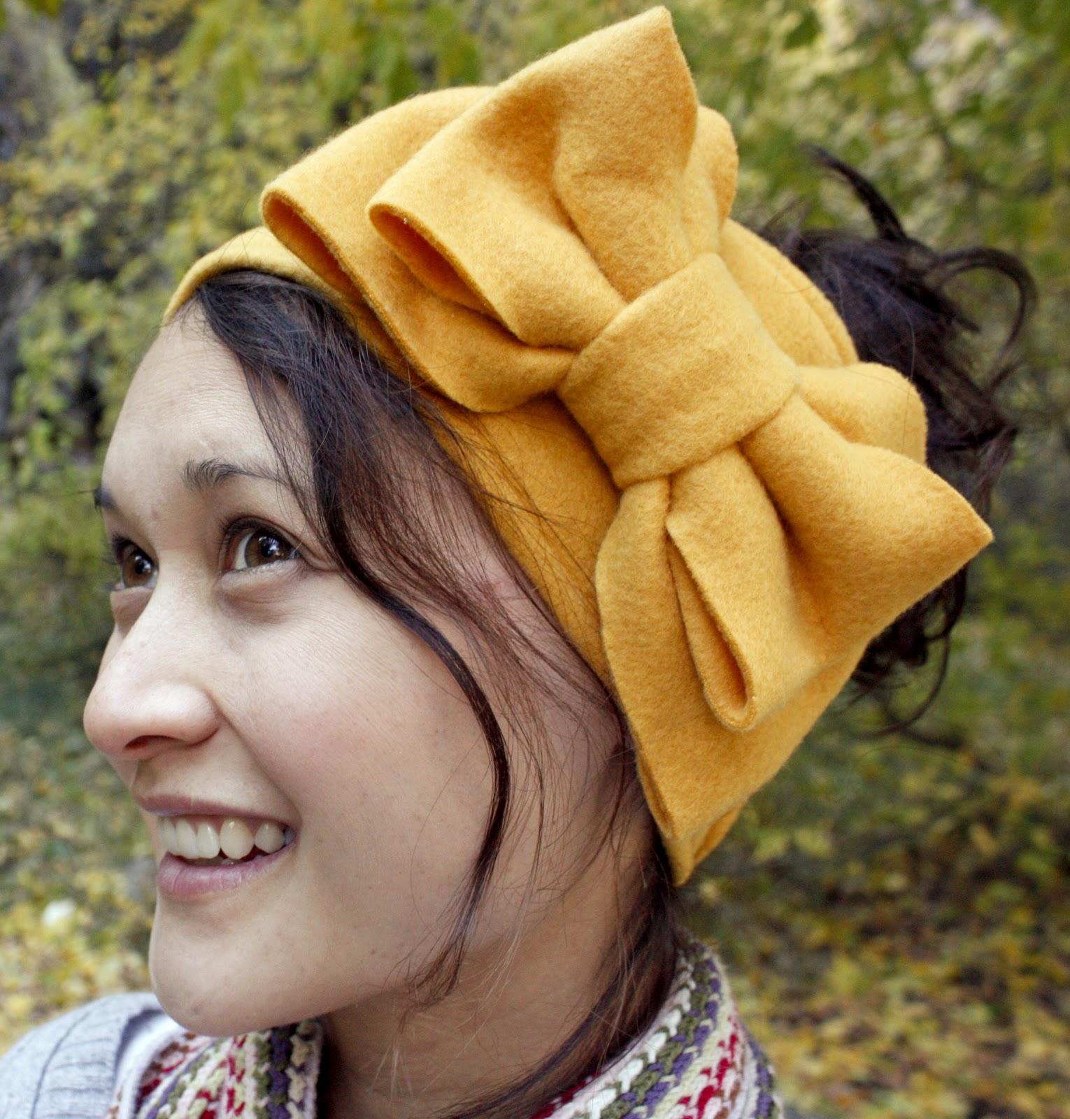 Как сделать повязку на голову из ткани фото