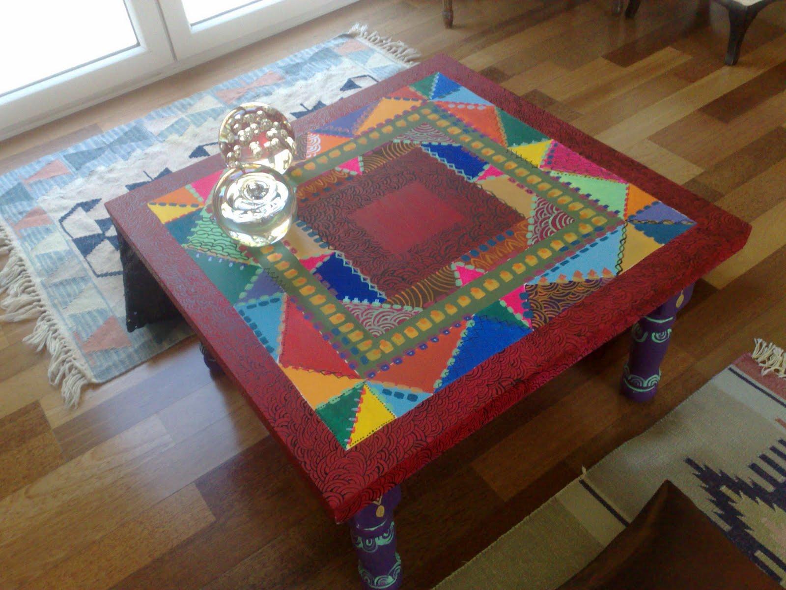 Vintouch muebles reciclados pintados a mano mesa - Muebles pintados a mano fotos ...