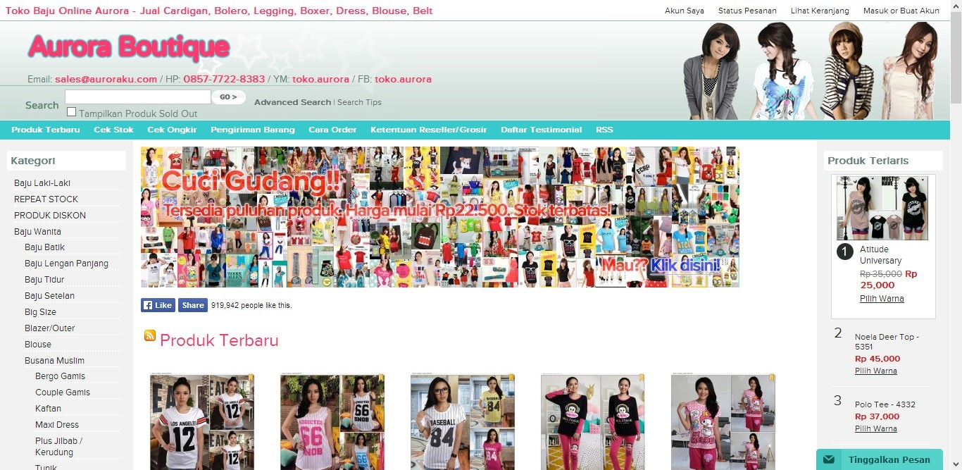Online Shop Baju AURORAKU