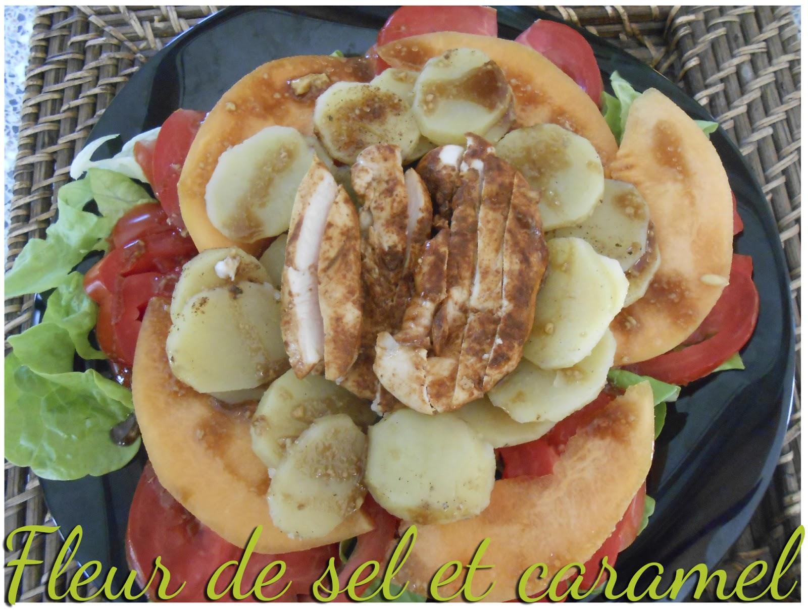 Fleur de sel et caramel salade soleil ti de de poulet paprika et pommes de terre sauce - Pomme de terre coup de soleil ...