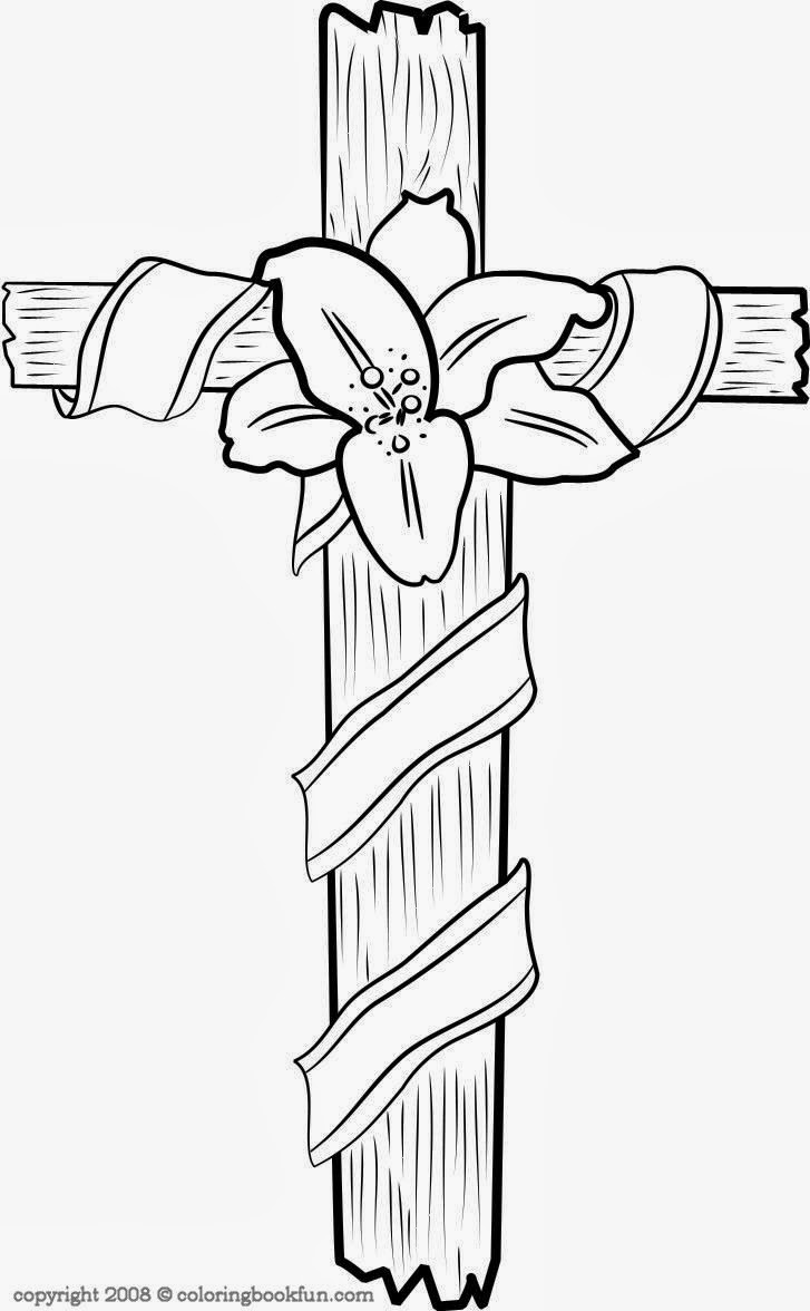 Cross Coloring Pictures Christ Religious Coloring Page