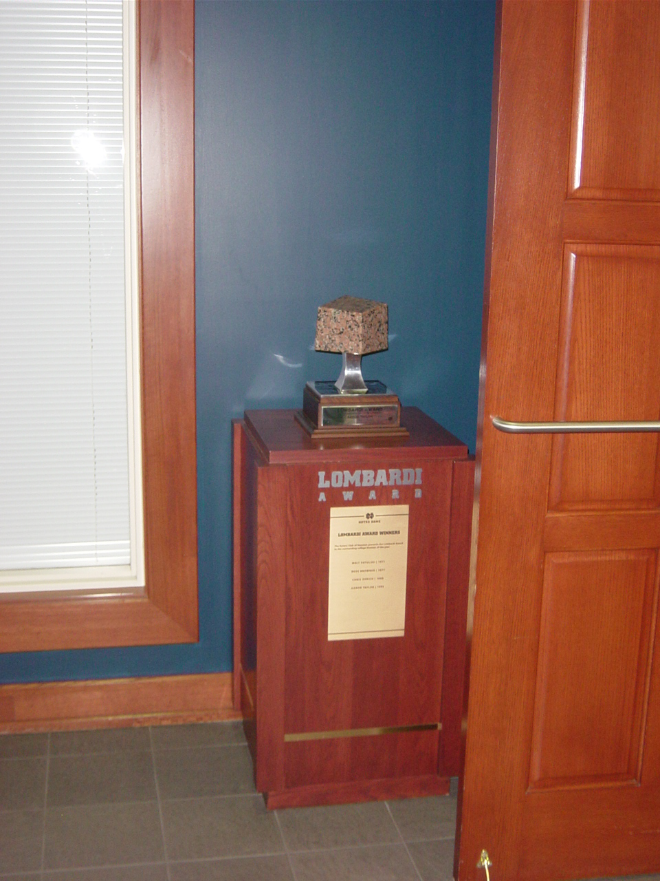 Lombardi Trophy Notre Dame