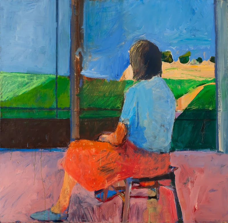 Richard Diebenkorn  Girl Looking at Landscape   1957  oil on canvas    Richard Diebenkorn Paintings