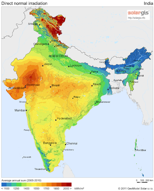 Map of Solar Power Plants in India Large Solar Power Plant