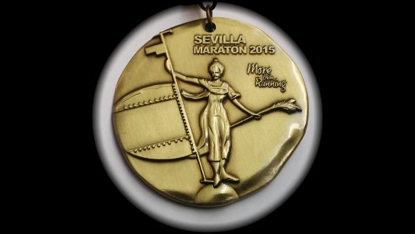 Medalla de la Maratón de Sevilla 2015