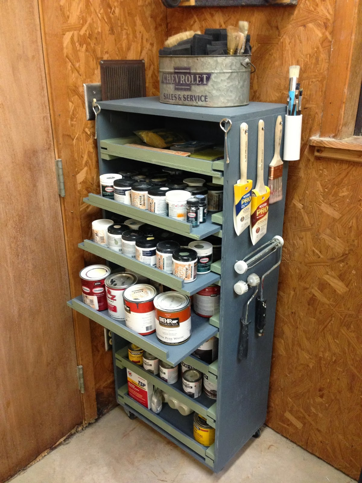 Wilker do 39 s diy paint storage cabinet Diy under counter storage