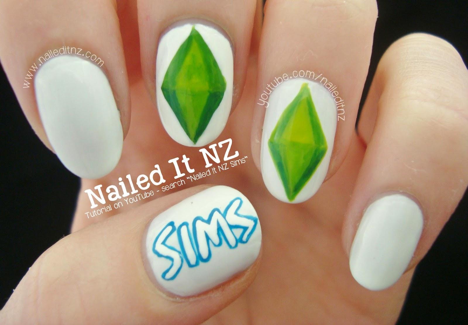 The Sims Nail Art Tutorial