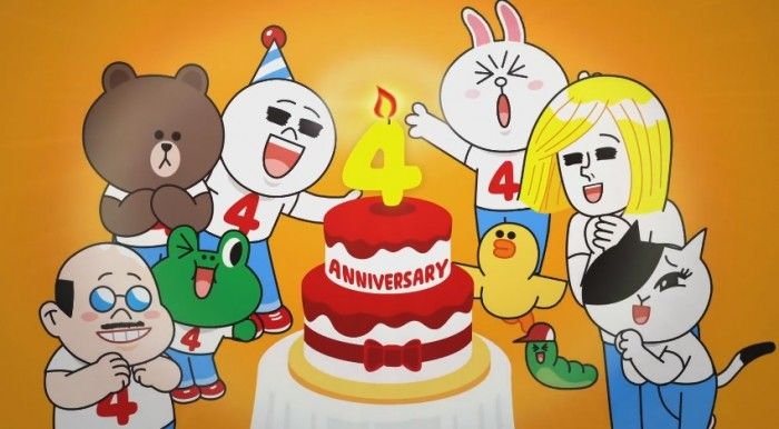 LINE Fourth Anniversary