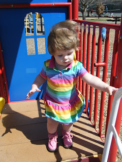Sasha on the Toddler Playground