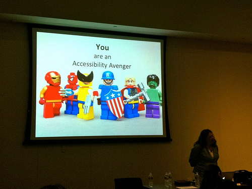 projected slide: You are an accessibility avenger