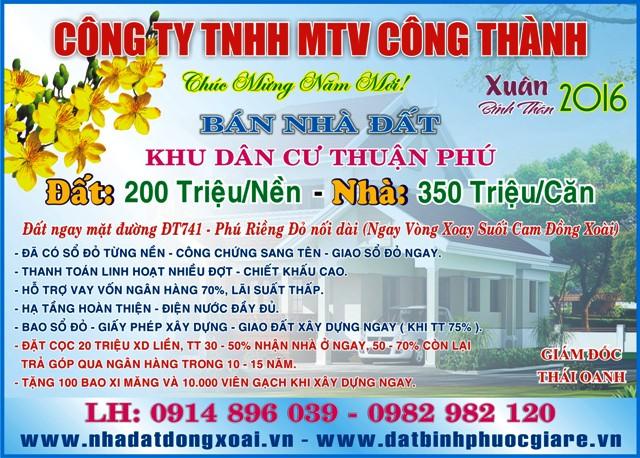 Công ty Nhà Đất Công Thành Đồng Xoài Bình Phước