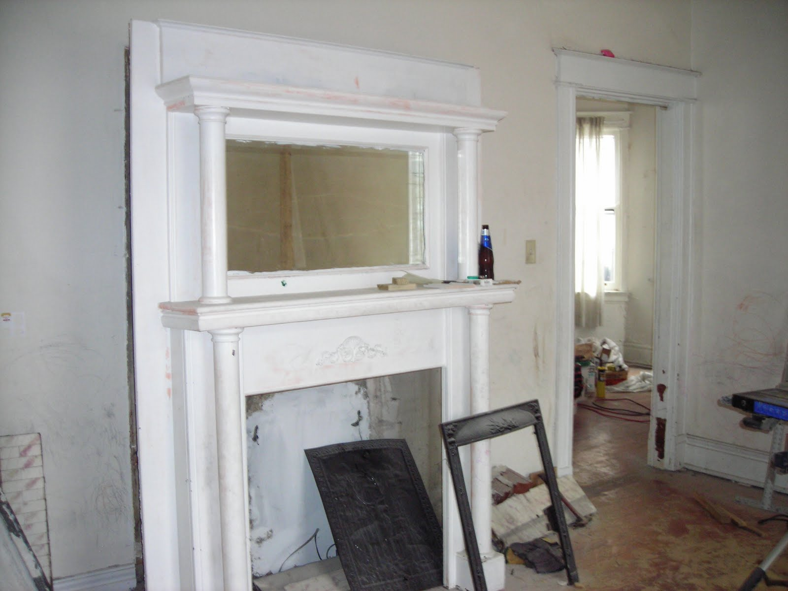 riverside properties workshop fireplace mantel restoration