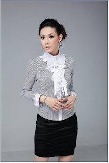 modelo de blusa social com babado 04