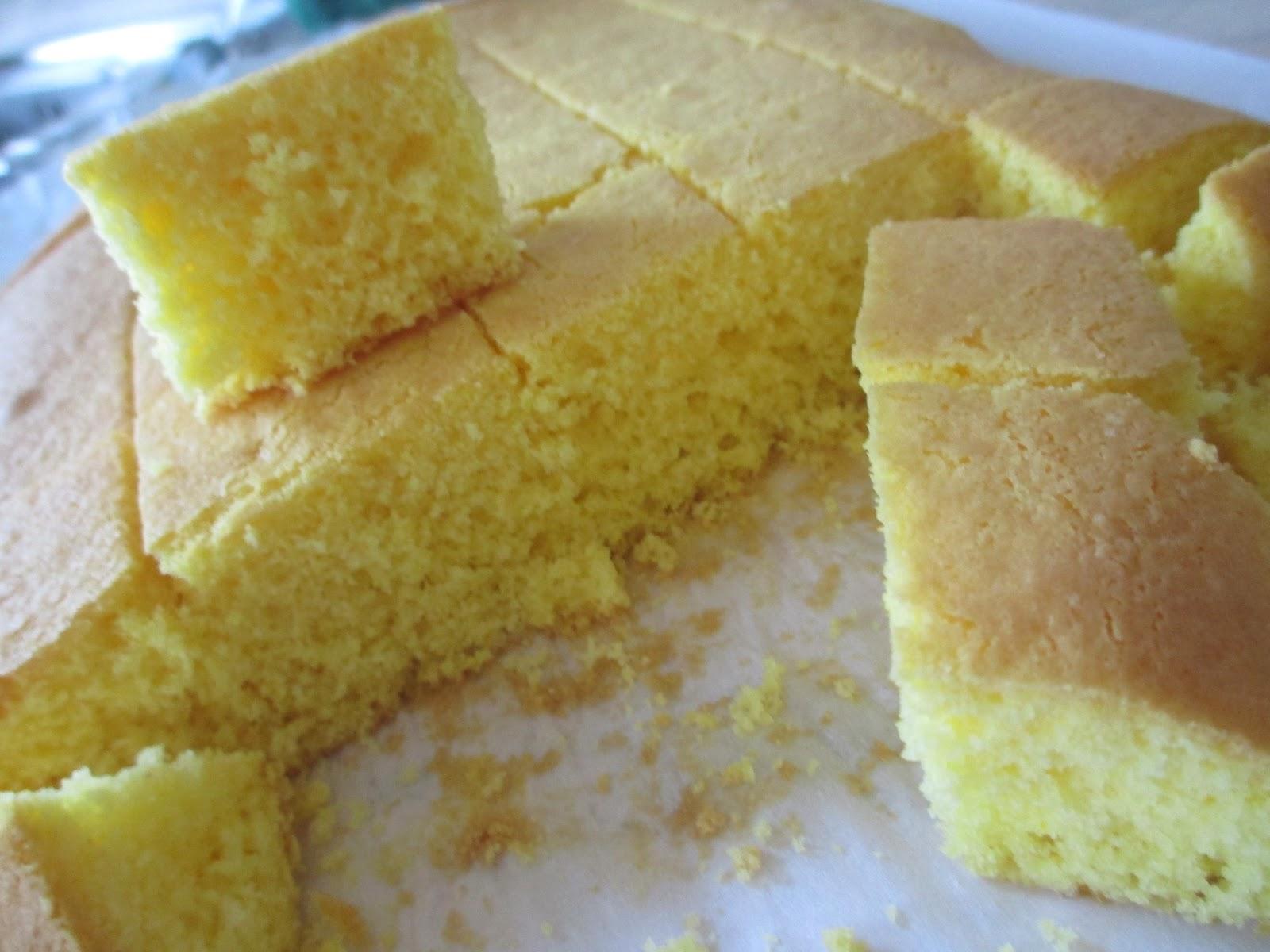 Questo è il pan di spagna fatto con la farina di MAIS