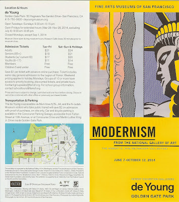 Brochure for Modernism From the National Gallery of Art - Front