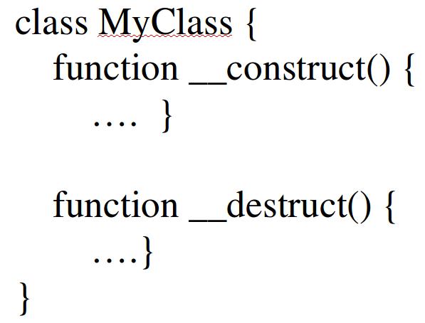 membuat constructor dan destructor