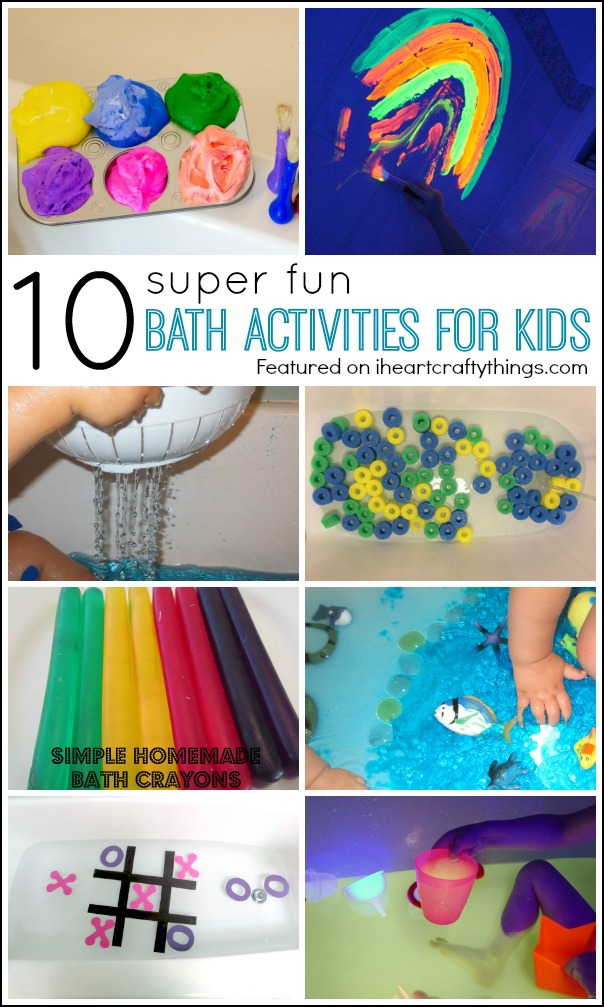 10 Super Fun Bath Activities for Kids | I Heart Crafty Things