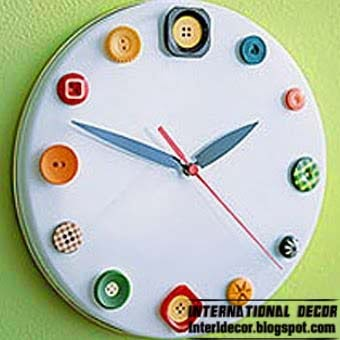 Interior Design 2014 Unusual wall clocks with your hands Diy wall