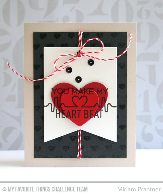 You Make My Heart Beat from Miriam Prantner featuring the Keep on Rockin' Stamp set and Photo Booth Props Die-namics