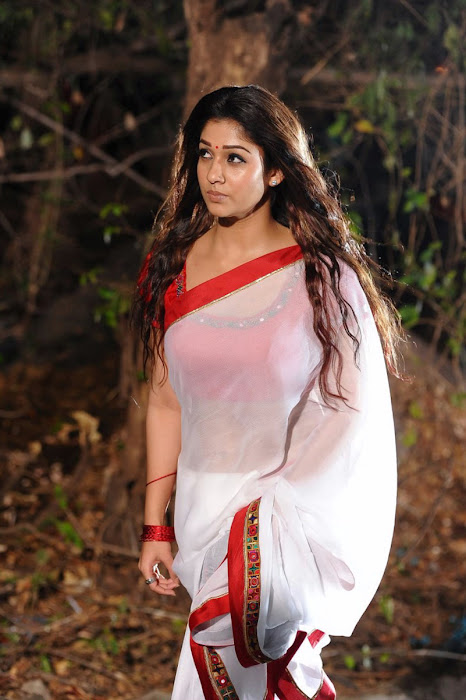 nayanthara in saree spicy cute stills
