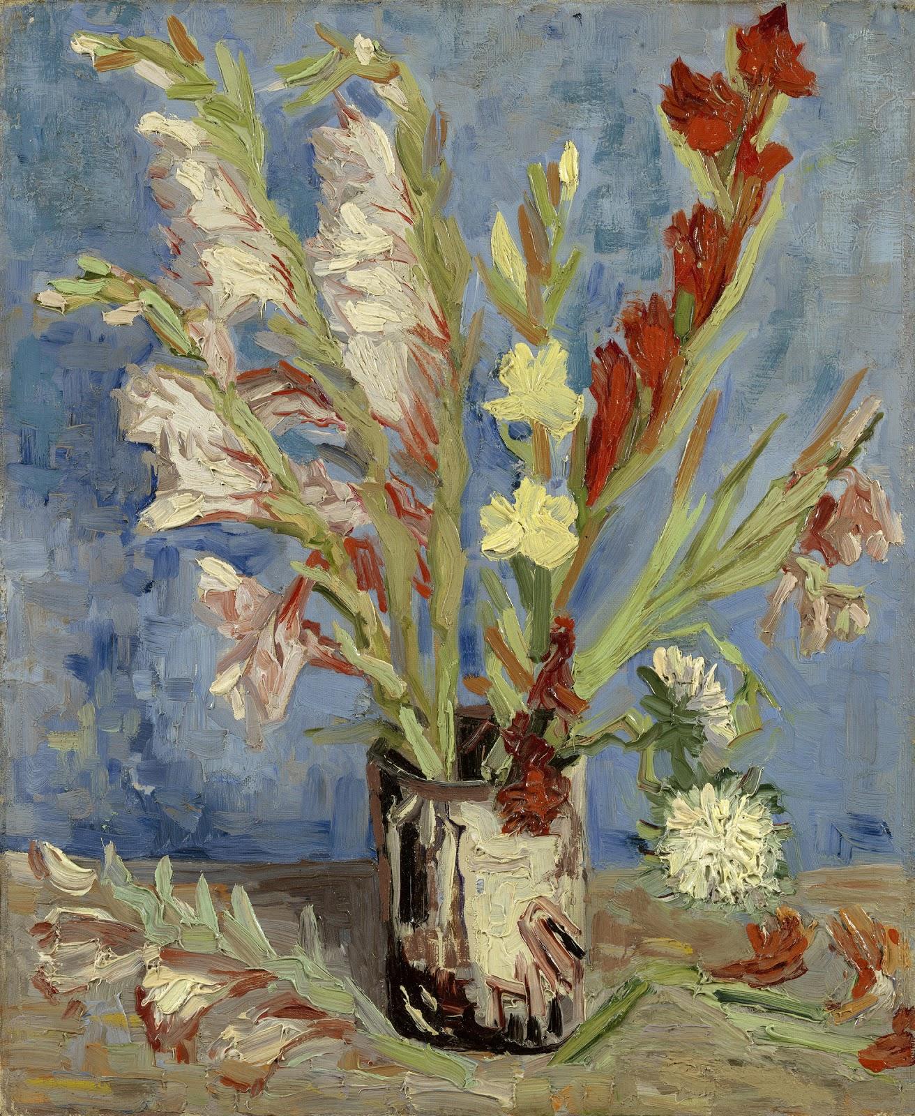 Van Gogh Paintings Vase With White
