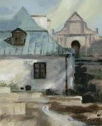 Joanna MilczewskaSandomierzmalarstwo akrylowepłótno 27 x 33 cm .