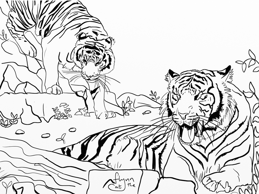 Coloring Pages Tiger Tank