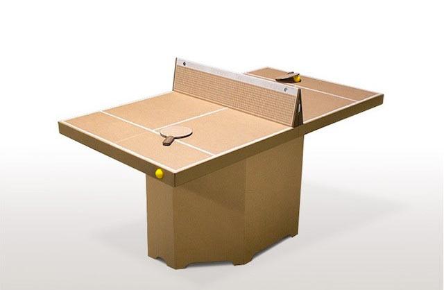 Mesa de Ping Pong hecho de cartón