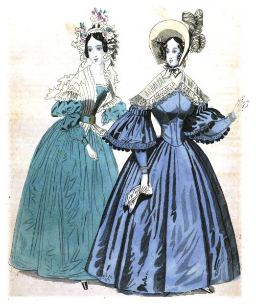 romantic era clothing fashion plate september 1836