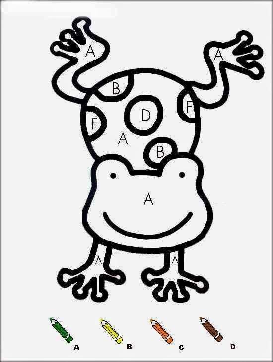 Grenouille coloriages magiques maternelle frog coloriage - Coloriage magic a imprimer ...