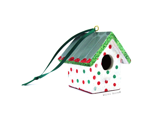 Little Bird House Ornament by Silva Ware