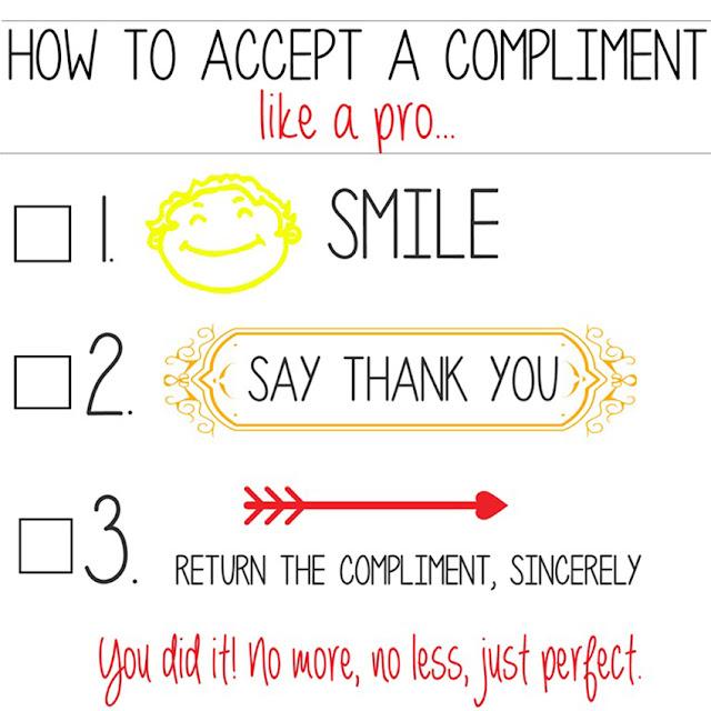 accept a compliment