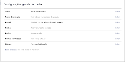 Email Facebook Confirmado